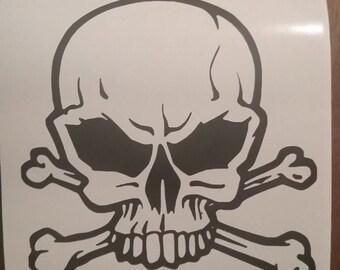 SKULL AND CROSS Bones Decal