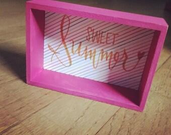 sweet summer mixed media sign.