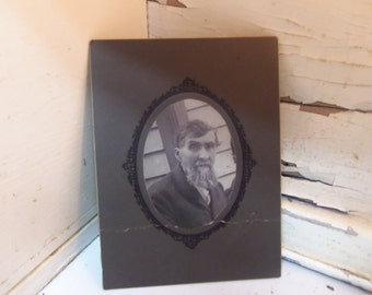 Vintage Black and White Old Man Creepy Photograph  B143