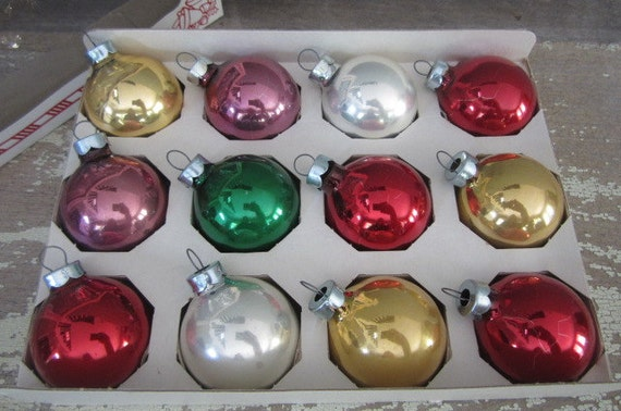 Vintage solid color christmas ornaments sears