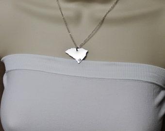 South Carolina State Necklace, ANY City State Necklace, SC Necklace, State Jewelry