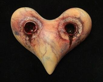 Vampire Heart Magnet - Bitten Sculpture