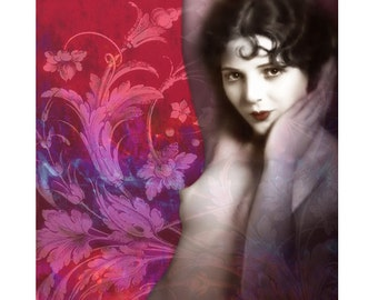Nude Burlesque, 1920 s nude, digital print, photomontage, vintage, digital art, art deco, art print, vintage print, fine art, modern art