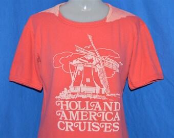 80s Holland America Cruises Line Windmill t-shirt Womens Small