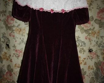 Velvet Lace Dolly Dress