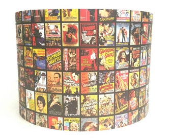 Vintage Hollywood Movie Poster Lampshade