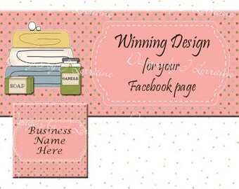 Spa Products Facebook Timeline Cover, Premade Personalized Your Business Name, Social Media Logo Marketing Graphics FB001
