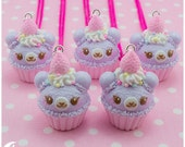 Cupcake bear Necklace