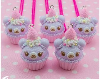 Cupcake bear Necklace