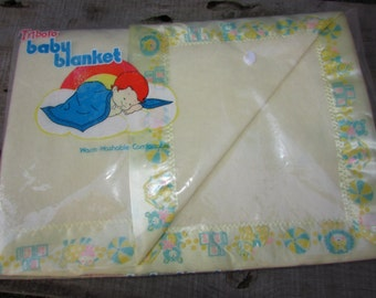 Triboro SEALED Baby Blanket  Vintage. Still Sealed. Never Opened.  Crib Blanket.