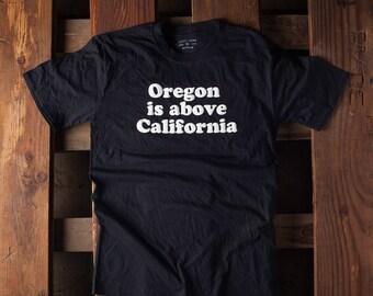 Oregon is above California