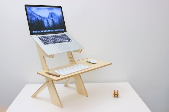 Standing Desk stand up desk laptop stand Birch Made in the