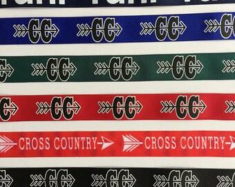 Custom Cross Country Keychain Run Mini Fob Key Chain Marathon Key Half Marathon Runner Track Key Cross Country Team Gift Coaches Gift