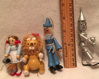Wizard of Oz wooden character ornaments