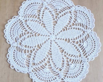 Handmade large lace crochet doily