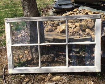 Small Vintage Rustic 6 Pane Window Frames