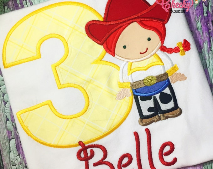Jessie Cutie Embroidered Shirt - Toy Story Inspired - Woody's Roundup - There's a Snake in my Boot - Disney Vacation -1st Disney Trip