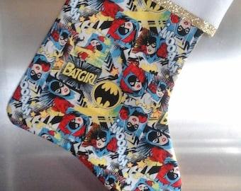 Batgirl stocking back solid colors.