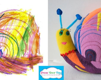 Toy from your kid's drawing- Custom made, personalized plush toy