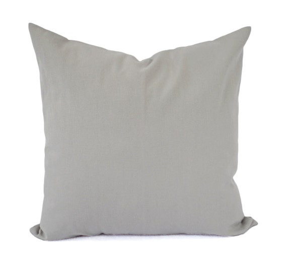 Solid Decorative Throw Pillows : Two Solid Grey Pillows Decorative Throw Pillow Grey Pillow