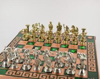 Discobolus chess set (25X25cm) / Copper chessboard