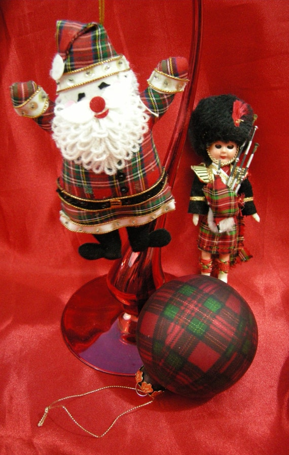 Scottish Christmas Ornaments decorations Scottish Santa