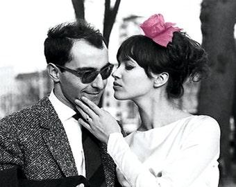 Jean-Luc Godard and Anna Karina Magnet