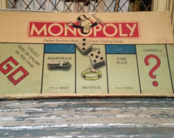 Monopoly Board Game Parker Brothers Real Estate Trading Game 1985, 31 years old