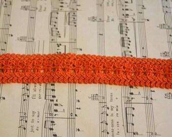Vintage Orange Braided Choker