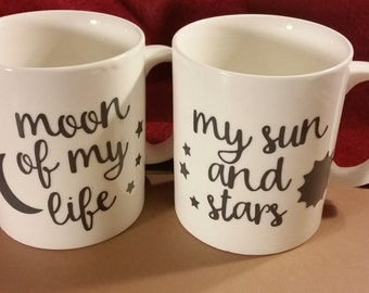 Moon of My Life, My Sun and Stars Coffee Mug Set