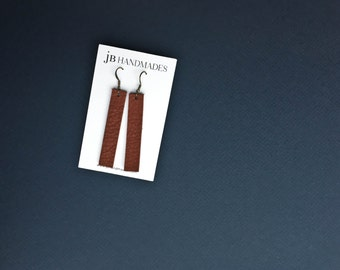 Boho Style Jewelry, Leather Earrings, Leather Drop Earring, Gift for Her, Joanna Gaines Earrings, Simple Earrings