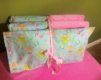 Kindermat Cover-  Attached Pillowcase & Blanket