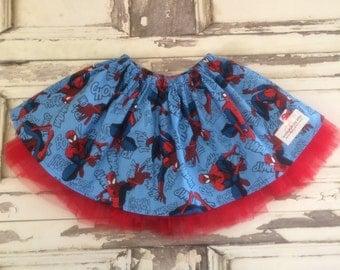 Spiderman inspired tutu skirt READY TO SHIP