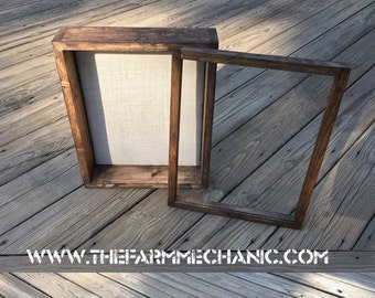 DEEP Shadow Box - 11x14 Shadow Box Frame, 3 inches Deep, Rustic Box, Custom Color