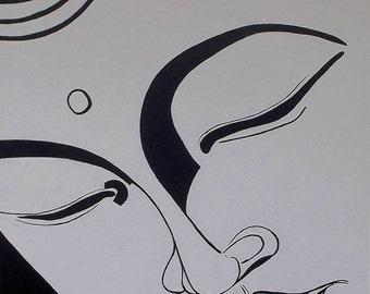B&W Buddha VI