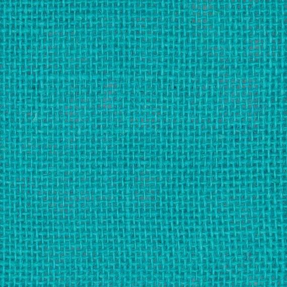 Burlap Fabric Turquoise Jute Burlap French Country