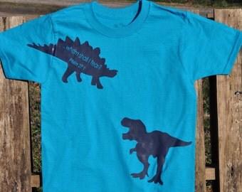 Boys T-shirt Dinosaur, Whom shall I fear?