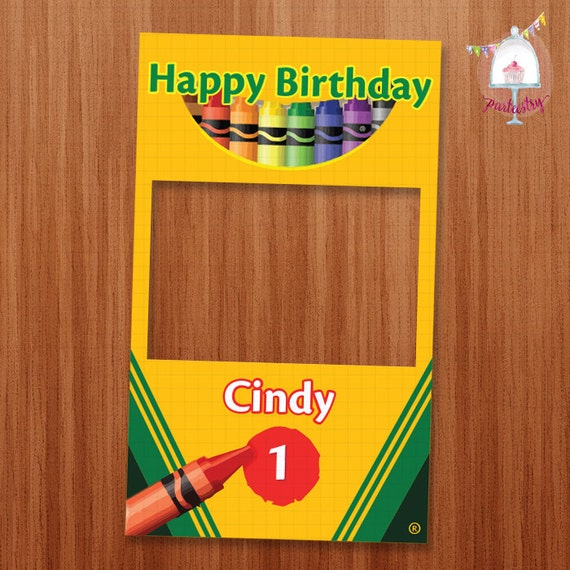 printable photobooth sign crayola board - Crayola Sign