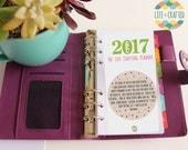 SALE! Personal Size - 2017 - Day Per Page Dated Calendar Refills - Planner Inserts for Filofax Kikki K - DOTTY Design