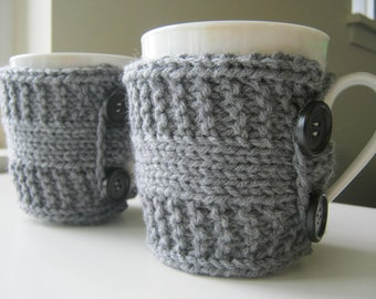 Teacher gift knit Coffee mug rustic spring gift cozy co worker gift gifts under 20 tea cozy knit cup warmer knit mug cozies coffee sleeve