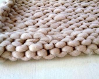 Hand Knit Stroller Blanket - Photo Prop - Baby Blanket