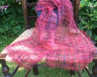 Thistledown gossamer scarf - Very Red!
