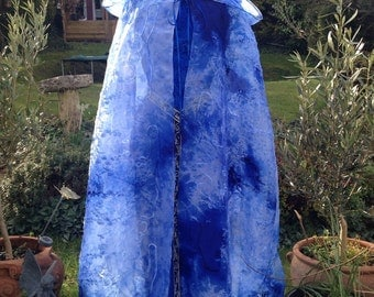Magical Renaissance tie dyed medieval  fairy wedding Pagan handfasting cloak