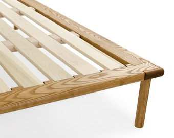 Platform Bed No. 4 - Dovetail Frame Bed in Solid White Ash - Modern Wood Bed - Twin Full Queen King - Easy to Assemble