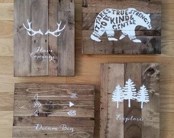 Woodland Rustic Nursery set