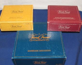 Original TRIVIAL PURSUIT Master Game Genus Edition 1981 PLUS 2 Extra Card Sets