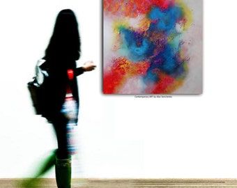 Large abstract painting by Alex Senchenko. Contemporary ART. Modern, original, wall art. FREE SHIPPING. 100% Hand-Made.