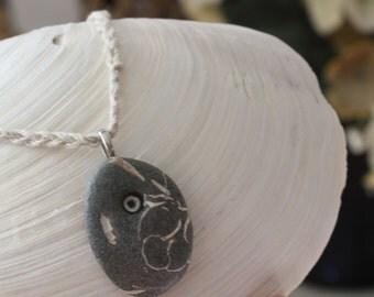 Beach rock necklace, beach rock jewelry, natural jewelry, beach accessories, beach rock pendant