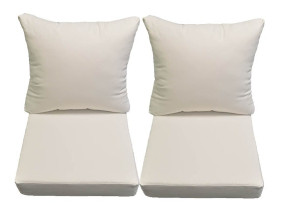 Sunbrella Canvas White Cushions For Patio Outdoor Deep Seating