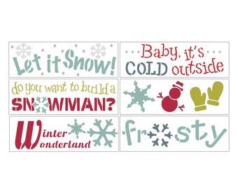 Winter Wonderland DIY Christmas Stencil Kit